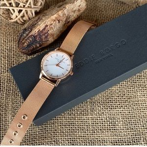 EDDIE BORGO The Solo Rose Gold Watch, new in box